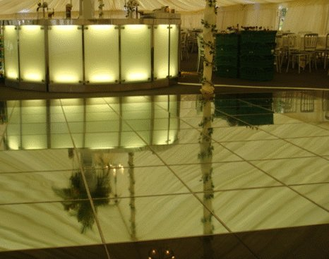 Mirrored Dance Flooring Hire