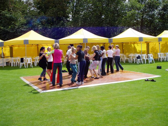 Outside Dance Floor Hire
